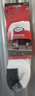 Thorlo's Men's Cushion Tennis Mini Crew Lo Quarter Socks Shoe Size 13 - 15 Xl