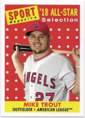 MIKE TROUT 2019 Topps Archives #310 SP Short Print 1958 Sport Magazine Angels