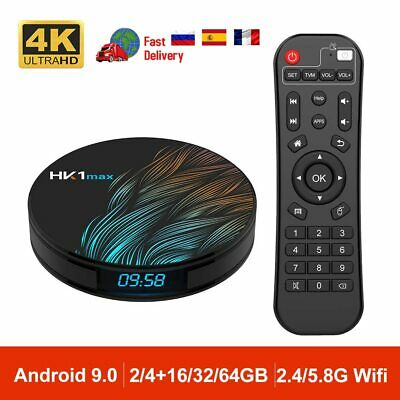 Android 9.0 Smart TV Box 2.4G / 5G Wifi RK3318 Quad Core Media Player 4 + 64G SF