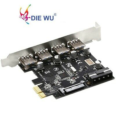 PCI-E PCI Express to 4 Port USB 3.0 Hub Controller Card Adapter 5Gbps Speed Top