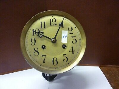 Art Deco Double Striking Wall Clock Spring Driven Movement+Dial (Z7)