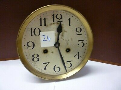 German Art Deco Striking Wall Clock Spring Driven Movement+Dial (Z4)