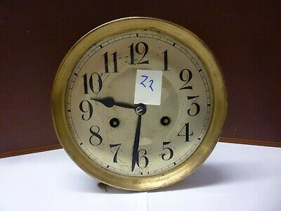 German Art Deco Striking Wall Clock Spring Driven Movement+Dial (Z2)