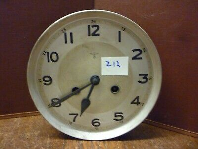 Original German Art Deco Striking Wall Clock Spring Driven Movement+Dial (Z12)