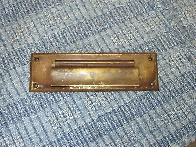 Antique Victorian Brass Letter Slot for a Door