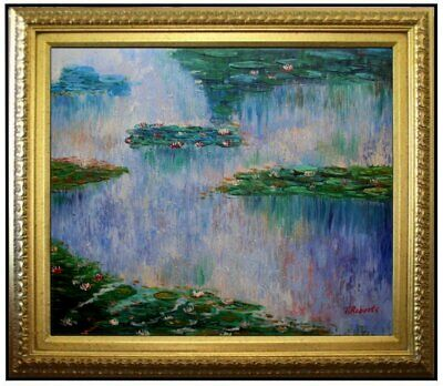 Framed, Quality Hand Painted Oil Painting Repro Monet Water Lily Pond, 20x24in