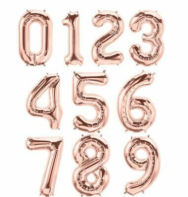 "40"" Rose Gold Giant Birthday Celebration Number Foil Balloon ~~~ ANY AGE BALLOON"