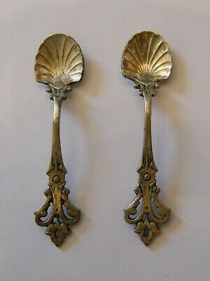 Pair of Spoon Salt in Silver Plated Silver Silber Renaissance