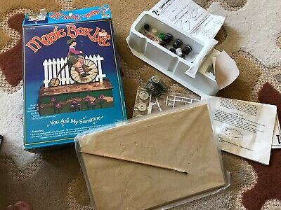 Vintage Craft Master Bicycle Music Box Kit Complete 1984 50902 Never Assembled