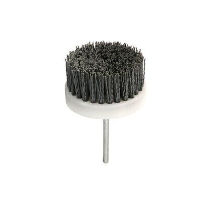 "3"" Abrasive Wire Brush Polishing Buffing Nylon Cup Rotary Tool 1/4"" Shank 120#"