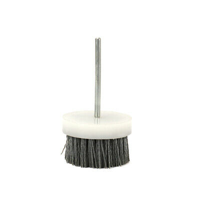 "70mm Abrasive Wire Brush Polishing Buffing Nylon Cup Rotary Tool 1/4"" Shank 180#"