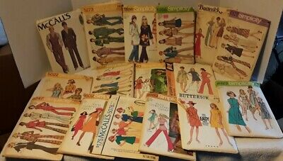 Lot of 16 Vintage Sewing Patterns From 60's 70's Simplicity McCall's Butterick