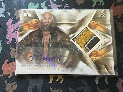 WWE Tommaso Ciampa Autograph Relic Card 04/10 Undisputed 2019 Topps