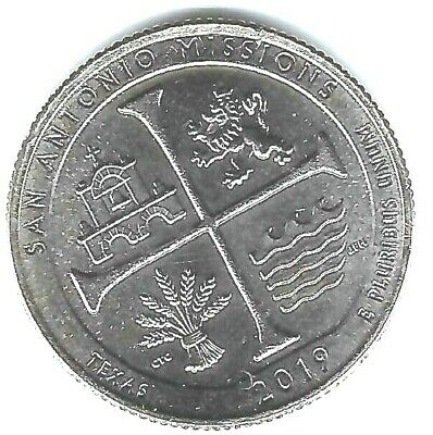 2019-D Denver San Antonio Missions 25 Cent Coin!