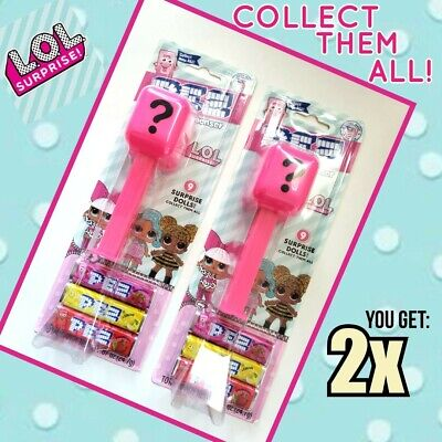 New PEZ LOL Surprise Dolls Dispenser SET OF 2X Collect All 9! Free Shipping!