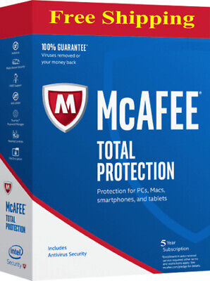 McAfee Total Protection 1 Device 2019 5 YEAR MAC,Win,Android KAY Antivirus 📩