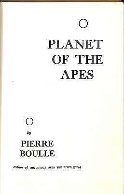 Planet of the Apes, Boulle, Pierre, Good Condition Book, ISBN