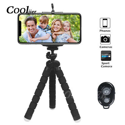 COOLJIER Flexible Sponge Octopus Mini Tripod With Bluetooth Remote Shutter Phone
