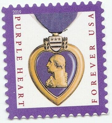 US 5419 Purple Heart Medal forever single (1 stamp) MNH 2019 after Oct 15