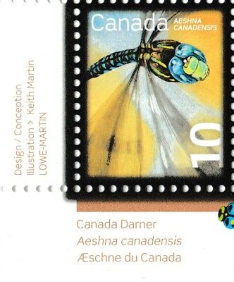 Canada 2237 Beneficial Insects Darner 10c corner single LL MNH 2007