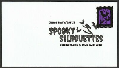 US 5423 Spooky Silhouettes Three Bats BWP FDC 2019