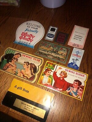 Lot of 9 VTG Sewing Needle Books~Army Navy, Sewing Susan, Sewing Club & More!