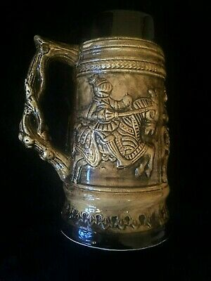 Medieval Knights stein vintage mug made in Japan