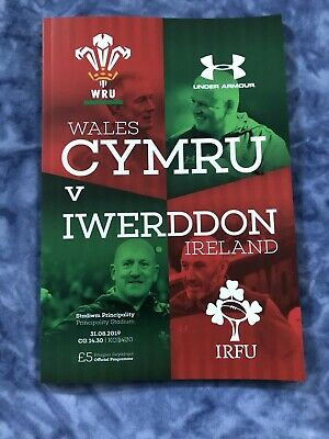 WALES v IRELAND RUGBY PROGRAMME INTERNATIONAL - 2019 - Gatlands Last Home Game