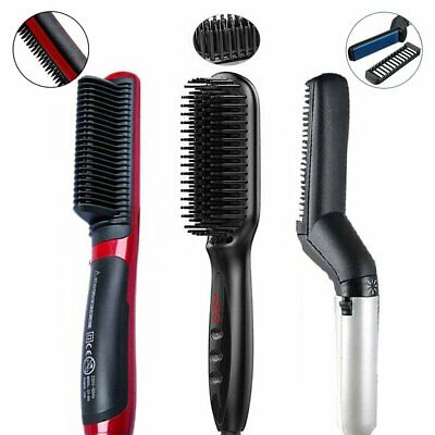 Quick Beard Straightener Multifunctional Hair Comb Curling Curler Show Cap D5