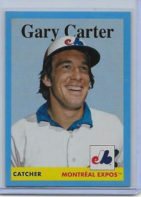 """Gary Carter #43 23/25 2019 Topps Archives Blue """"1958"""" Sp Parallel Montreal Expos"""