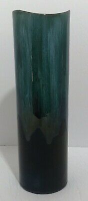 Blue Mountain Pottery Green Glaze Tall Cylinder Vase BMP