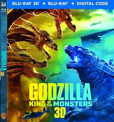 Godzilla the King of Monsters 3D Blu-ray Region Free Ships Now