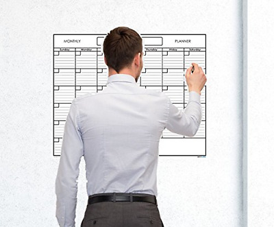 tMonthly Wall Calendar Planner One Month Dry Erase Board White Large Home 18 ...