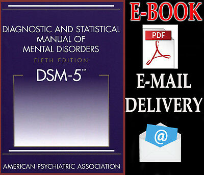 "DSM-5 Diagnostic and Statistical Manual of Mental Disorders 5th "" E-ß00K """