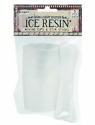 Ranger - Ice Resin - Plastic Mixing Cups & Stir Sticks - Package of 5