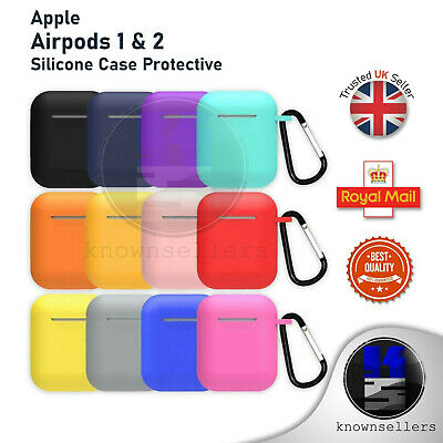 Apple Airpods 1 & 2 Silicone Case Protective cover rubber 360 for charging case
