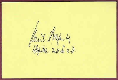 Paul Brassack, German WWII U-Boat Commander, Signed Card, COA, UACC RD 036