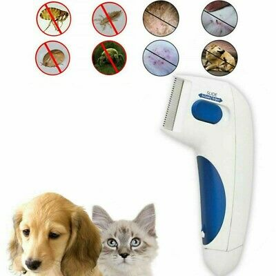 GRAWILLE Electric Head Comb Pet Lice Vacuum Comb with 3 Capture Filters
