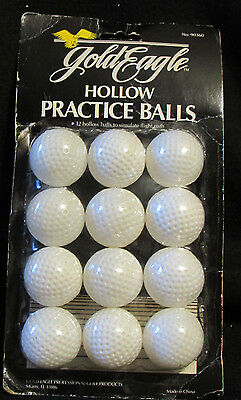 Gold Eagle Box of 12 Practice Golf Balls NIB