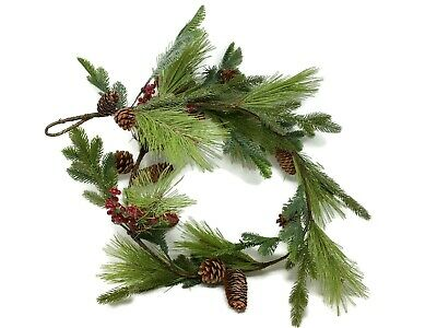 Artificial Berry & Natural Pine Cone Garland x 150cm  - Icy Sparkle Christmas