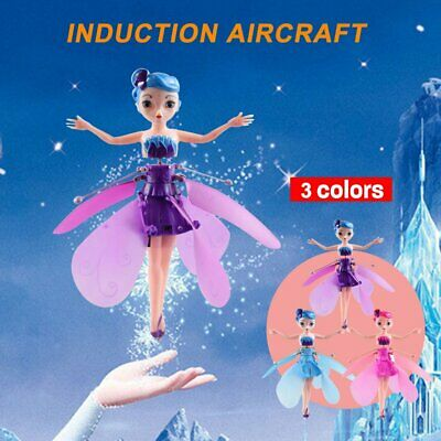 Cute Flying Fairy Magic Infrared Induction Princess Doll For Girls Birthday JM