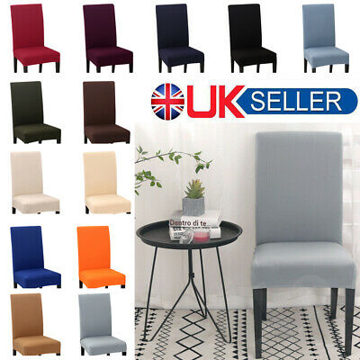 4/6x Universal Spandex Stretch Dining Chair Cover Slipcover Banquet Party Decor