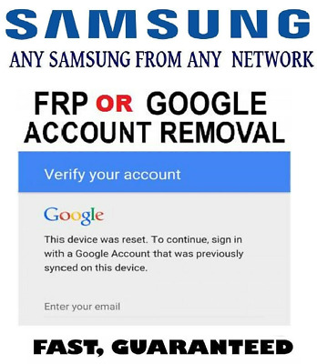 Google Account Removal/Reset FRP For Samsung Mobiles All Models Supported