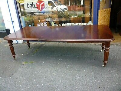 Victorian Pull Out Mahogany Dining Table With Three Extra Leafs 100ins Extended
