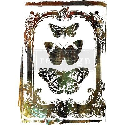 "Prima Re-design Decor Transfer-butterfly Frame 24""x32"""