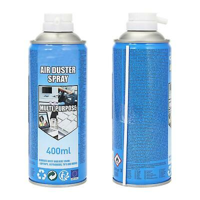 2 X Multi-Purpose Compressed Air Duster Cleaner Spray Can Cans Canned 400ml