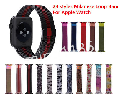 Magnetic Milanese Loop Band Watch Strap for Apple Watch Series 4/3 38/42MM/40/44