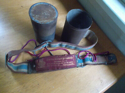 The Owen Electric Belt Pat.1887 Early Antique Quack Shocker Belt Device In Can