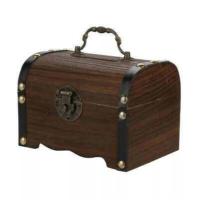 Hot Sale Wooden Piggy Bank Safe Money Box Savings With Lock Wood Carving