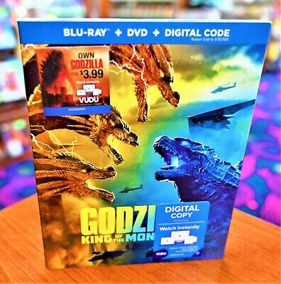 Godzilla King Of Monsters BLU-RAY + DVD + DIGITAL BRAND NEW, SEALED!!!